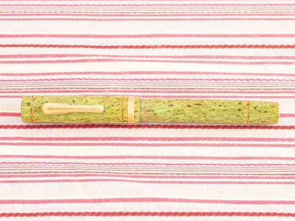 vintage conklin endura green lime specks marble crescent fountain pen