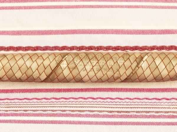 vintage mabie todd swan self-filler silver green pearl red-eye snake-skin fountain pen