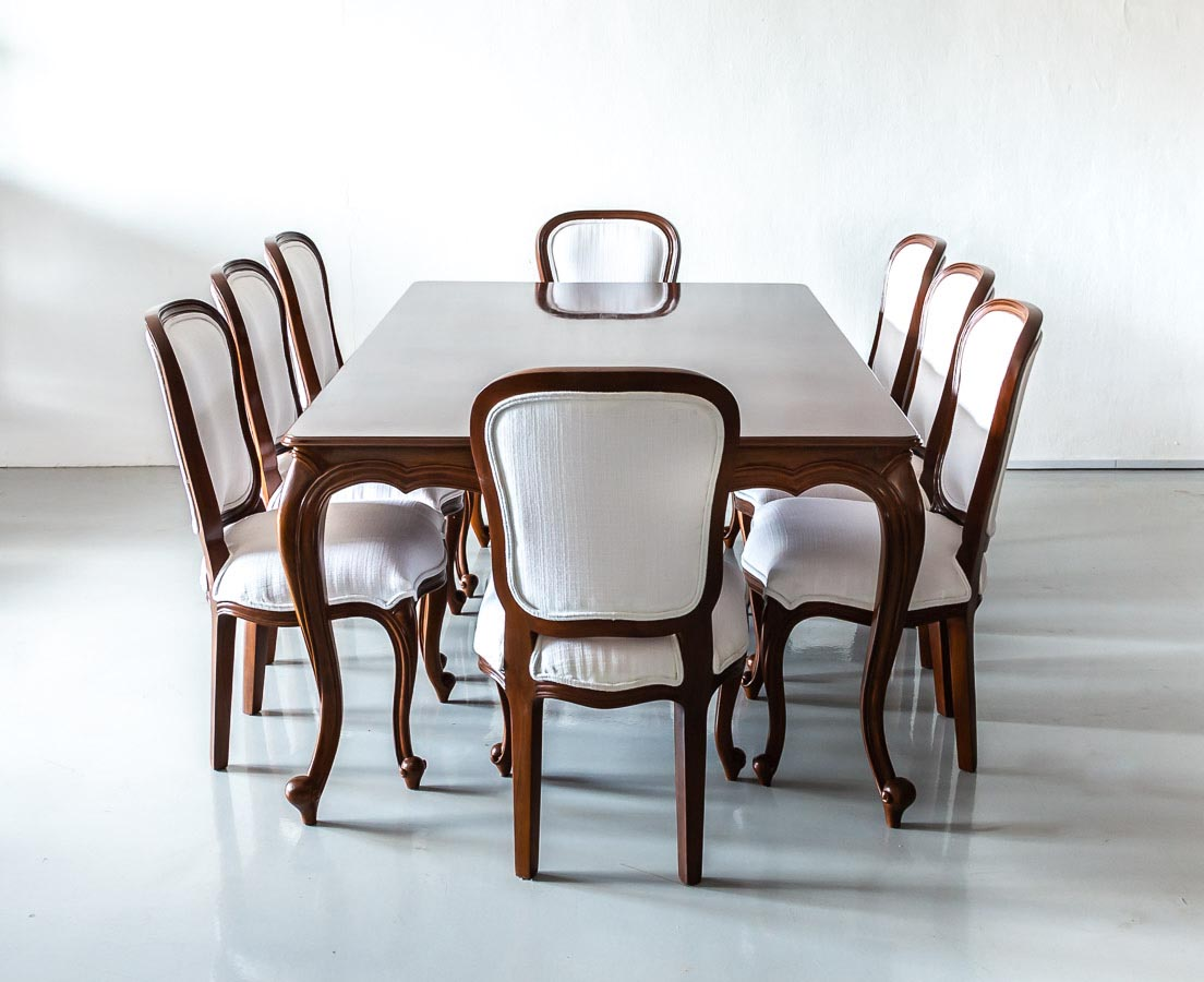 Teak Dining Room Chairs Anglo Indian Teakwood Dining Table With 8 Chairs