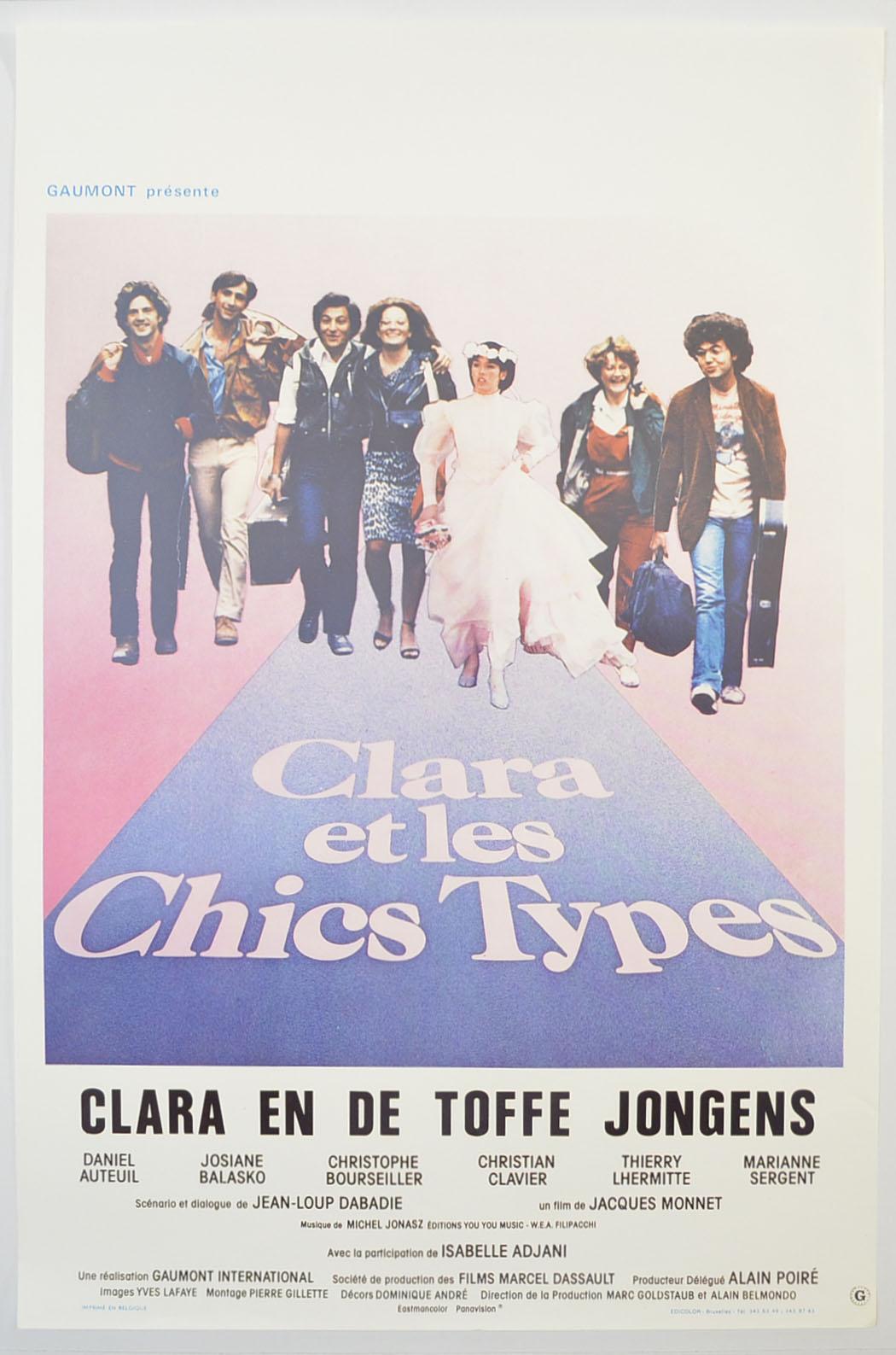Clara Et Les Chics Types : clara, chics, types, Clara, Chics, Types, <p><i>, (Original, Belgian, Movie, Poster), </i></p>, Original, Cinema, Poster, Pastposters.com, British, Posters, 1-Sheet