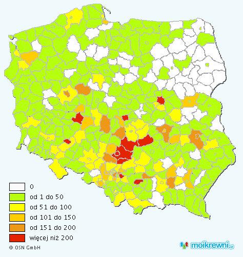 Pluta Poland Map