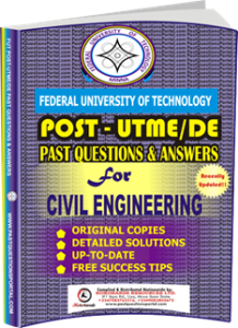 FUTECH Post UTME Past Questions for CIVIL ENGINEERING