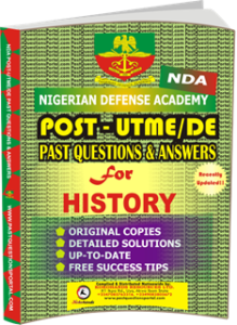 NDA Past UTME Questions for HISTORY