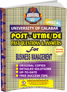 UNICAL Past UTME Questions for BUSINESS MANAGEMENT