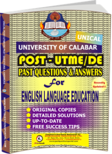 UNICAL Past UTME Questions for ENGLISH LANGUAGE EDUCATION