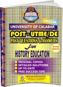 UNICAL Past UTME Questions for HISTORY EDUCATION