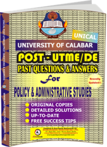 UNICAL Past UTME Questions for POLICY ADMINISTRATIVE STUDIES