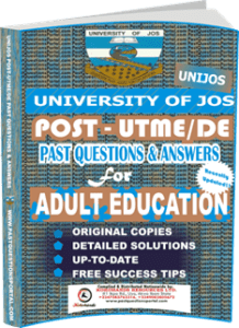 UNIJOS Past UTME Questions for ADULT EDUCATION