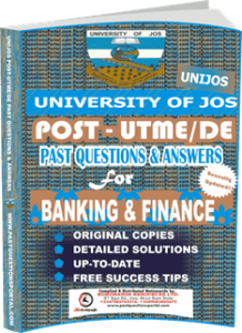 UNIJOS Past UTME Questions for BANKING FINANCE