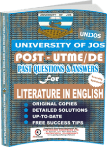 UNIJOS Past UTME Questions for LITERATURE IN ENGLISH