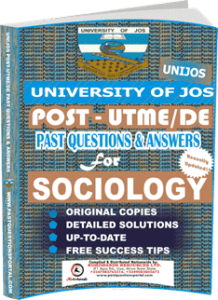 UNIJOS Past UTME Questions for SOCIOLOGY