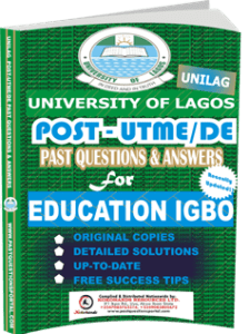 UNILAG Past UTME Questions for EDUCATION IGBO