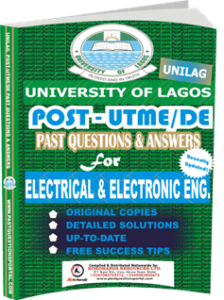 UNILAG Past UTME Questions for ELECTRICAL ELECTRONIC ENGINEERING