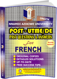 UNIZIK Past UTME Questions for FRENCH