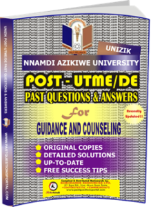 UNIZIK Past UTME Questions for GUIDANCE AND COUNSELING