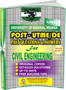 UNN Past UTME Questions for CIVIL ENGINEERING