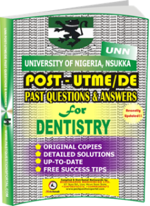 UNN Past UTME Questions for DENTISTRY