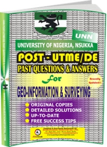 UNN Past UTME Questions for GEO-INFORMATION SURVEYING