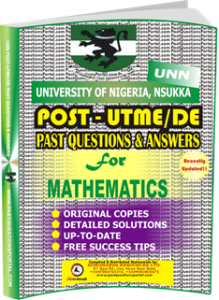 UNN Past UTME Questions for MATHEMATICS