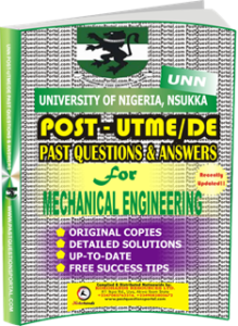 UNN Past UTME Questions for MECHANICAL ENGINEERING