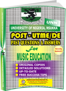UNN Past UTME Questions for MUSIC EDUCATION