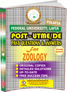 FULAFIA Post UTME Past Questions for ZOOLOGY