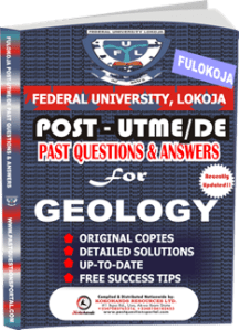FULOKOJA Post UTME Past Questions for GEOLOGY