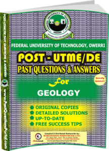 FUTO Post UTME Past Question for GEOLOGY