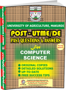 UAM Post UTME Past Question for Computer Science
