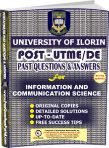 UNILORIN Post UTME Past Question for Information and Communication Science