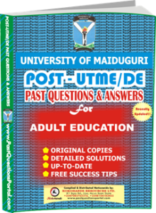 UNIMAID Post UTME Past Question for Adult Education