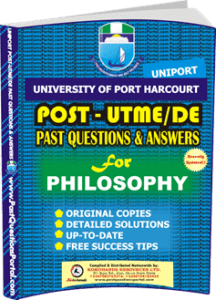 UNIPORT Post UTME Past Question for PHILOSOPHY