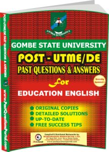 GSU Post UTME Past Questions for EDUCATION ENGLISH