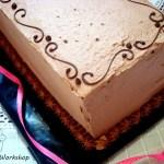 {French Yule Log} – Tort cu ciocolata si creme brulee