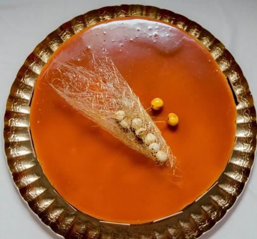 spiced caramel entremet