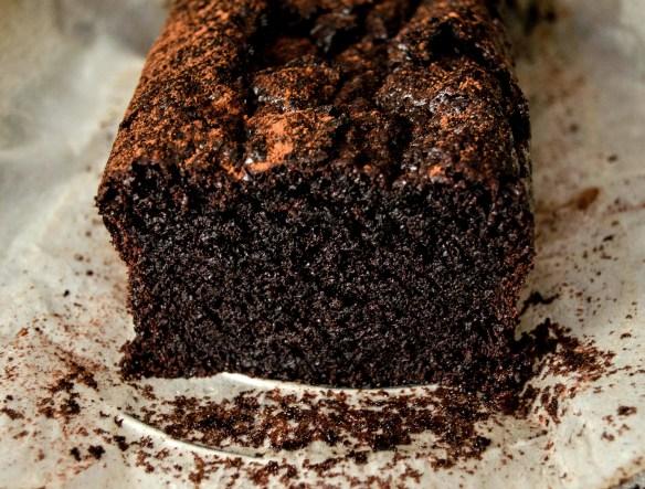 fudgy chocolate loaf cake