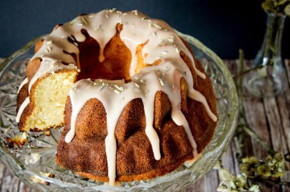 orange lavander bundt cake