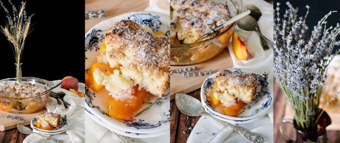 peach lavender cobbler