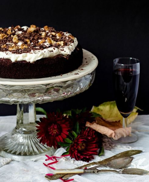 red wine brownie cake
