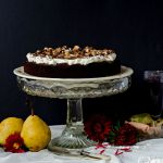 {Red Wine Brownie Cake} – Tort cu ciocolata si pere