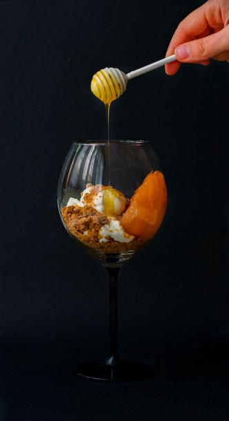 orange roasted pears