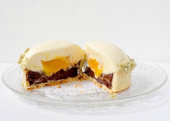 chocolate mango tartlets