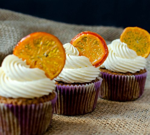brown butter carrot cupcakes