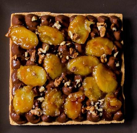 caramelized banana tart