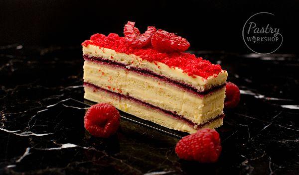raspberry opera cake