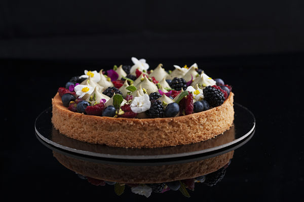 mint pistachio tart