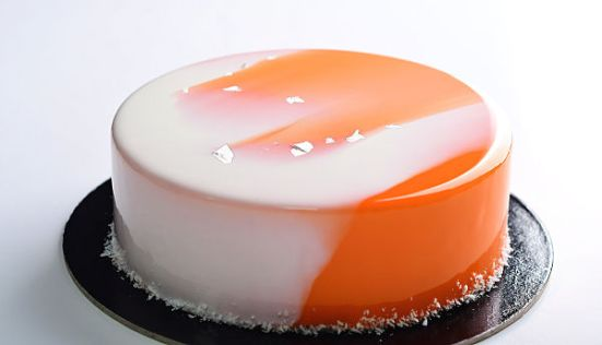 apricot rosemary entremet