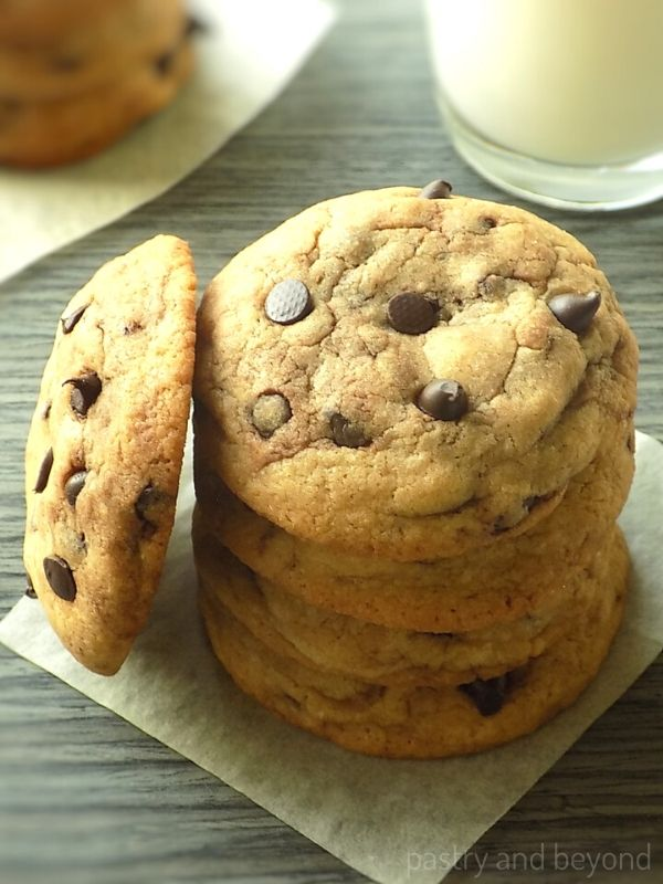 Stacked Soft Chocolate Chip Cookies