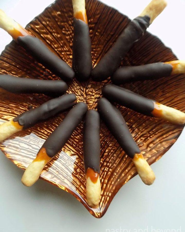 Caramel and Chocolate Sticks