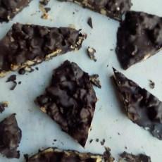 Chocolate Bark with Caramelized Walnuts